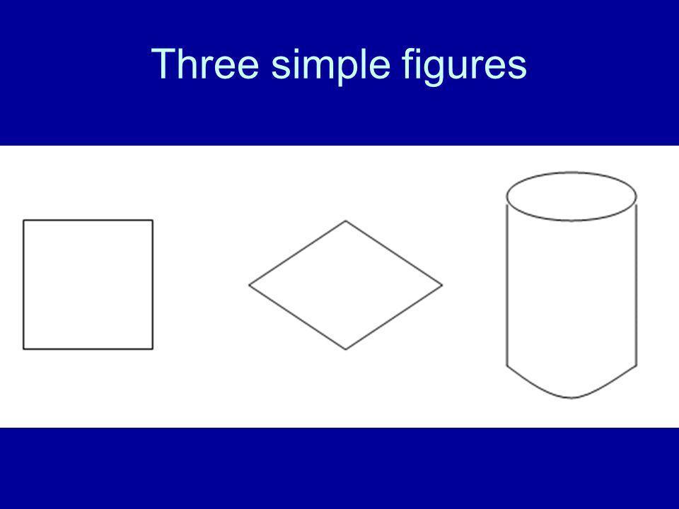 Three simple figures