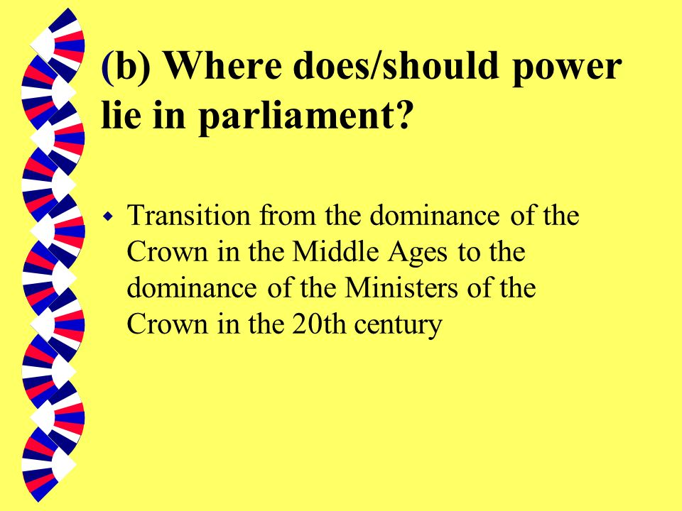 (a) What is Parliament? Erskine May: Parliament is composed of the Sovereign, the House of Lords and the House of Commons. These several powers collec