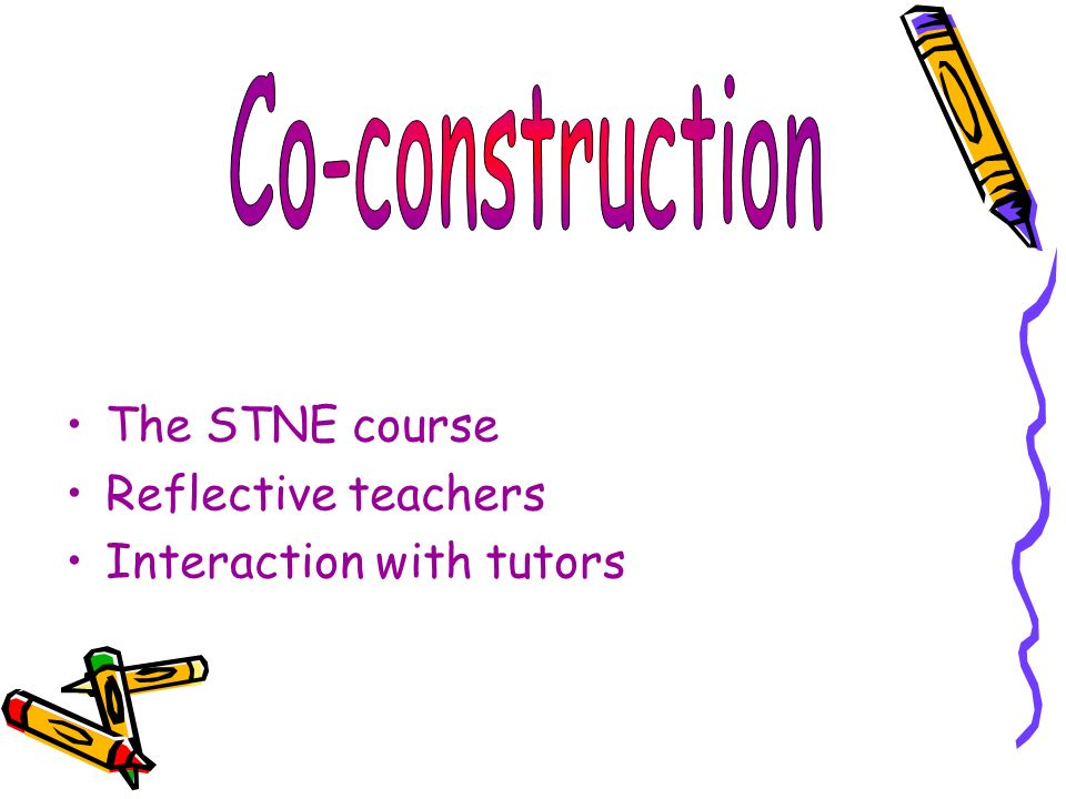 The STNE course Reflective teachers Interaction with tutors
