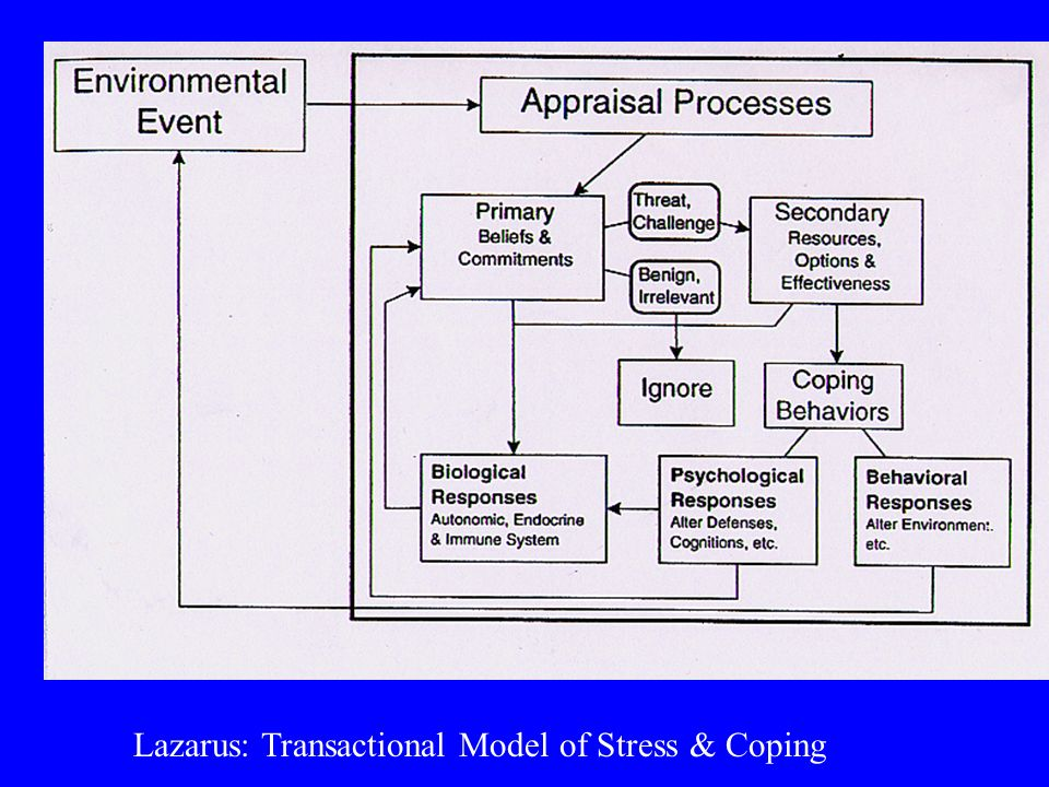 Lazarus: Transactional Model of Stress & Coping