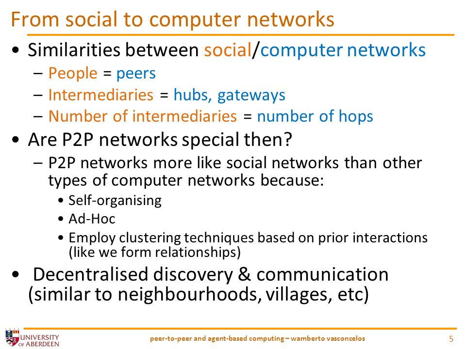 P2P: whats the problem.How to organise peers in ad-hoc, multi-hop pervasive P2P networks.