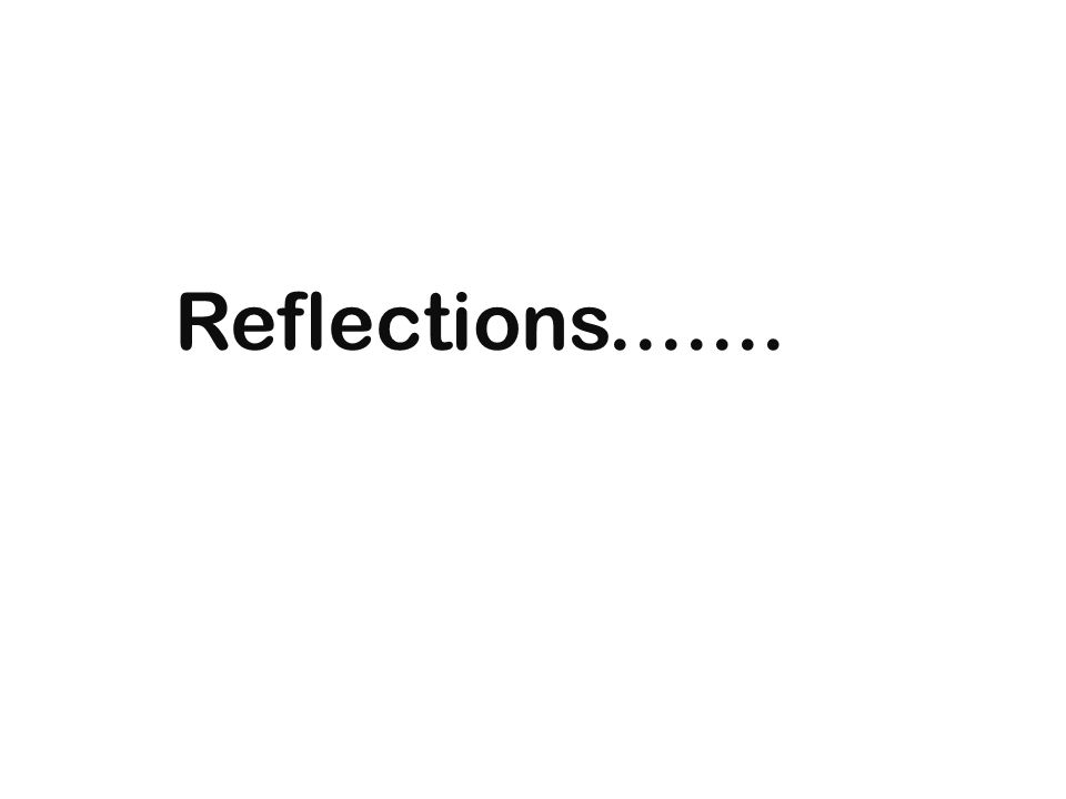 Reflections.......