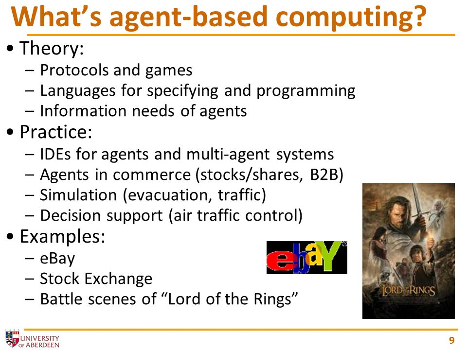 9 Whats agent-based computing.