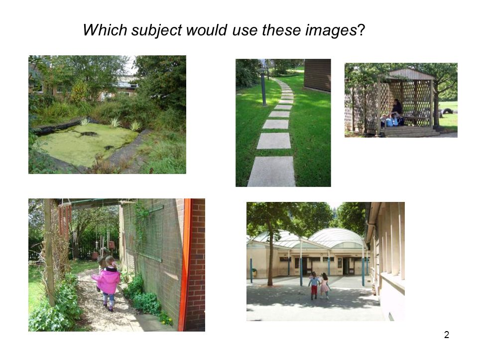 2 Which subject would use these images?