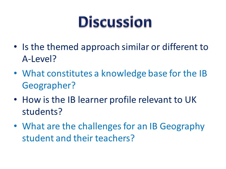 Is the themed approach similar or different to A-Level.