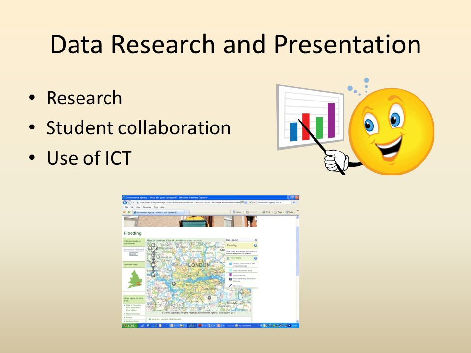 Data Research and Presentation Research Student collaboration Use of ICT