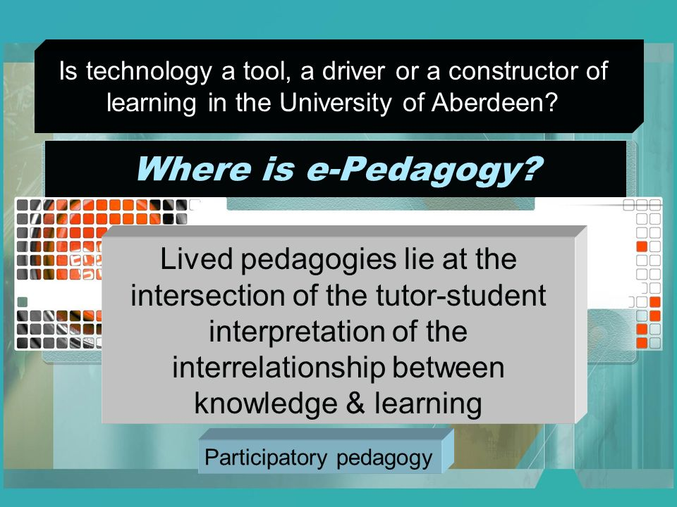 Where is e-Pedagogy.