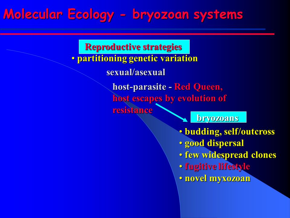 Reproductive strategies partitioning genetic variation partitioning genetic variationsexual/asexual budding, self/outcross budding, self/outcross good