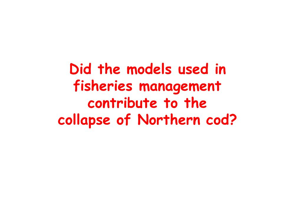 Did the models used in fisheries management contribute to the collapse of Northern cod?