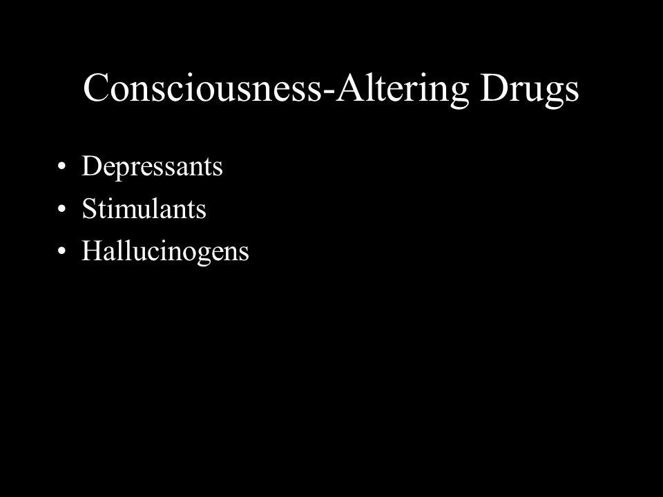 Consciousness-Altering Drugs Depressants Stimulants Hallucinogens