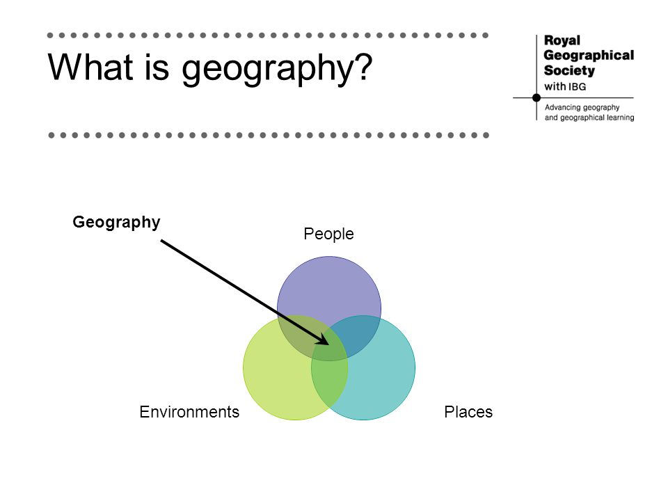 What is geography People PlacesEnvironments Geography