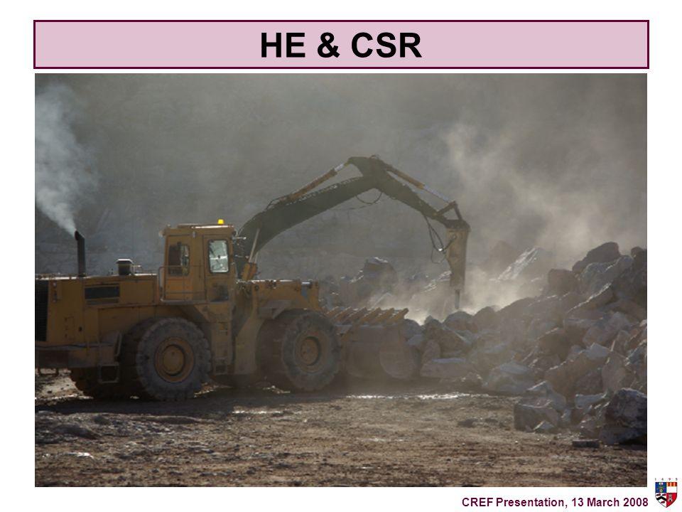 HE & CSR CREF Presentation, 13 March 2008