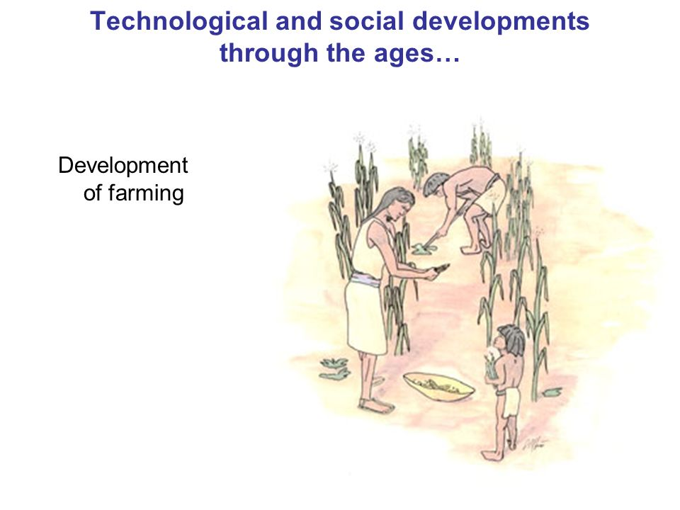 15 Technological and social developments through the ages… Development of farming