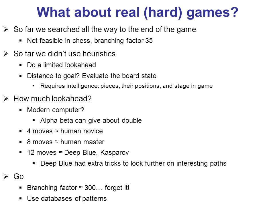 What about real (hard) games.