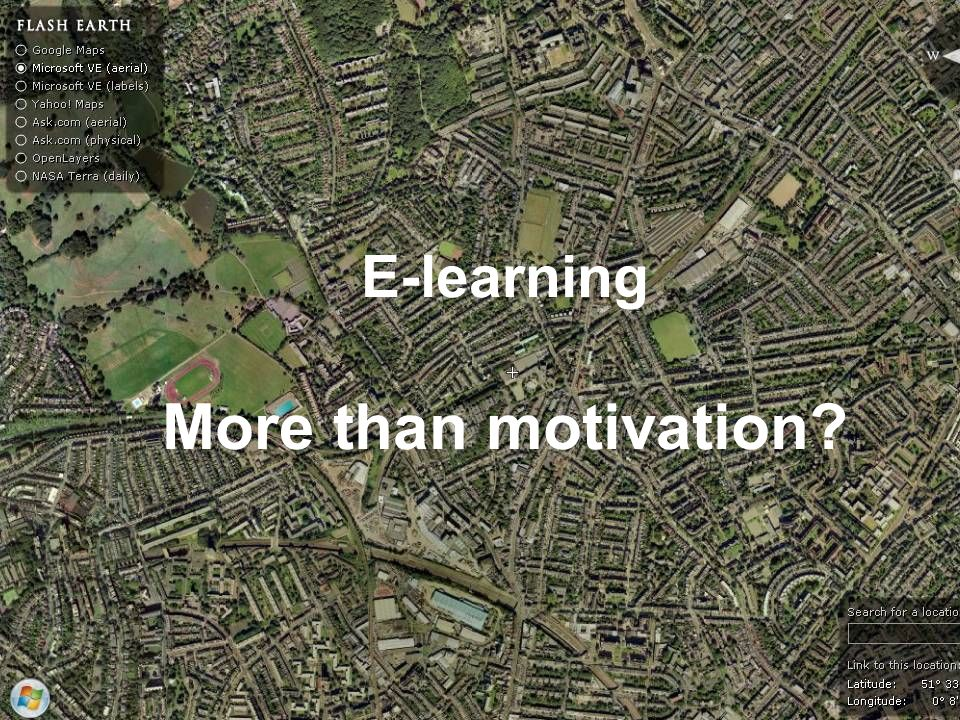 E-learning More than motivation