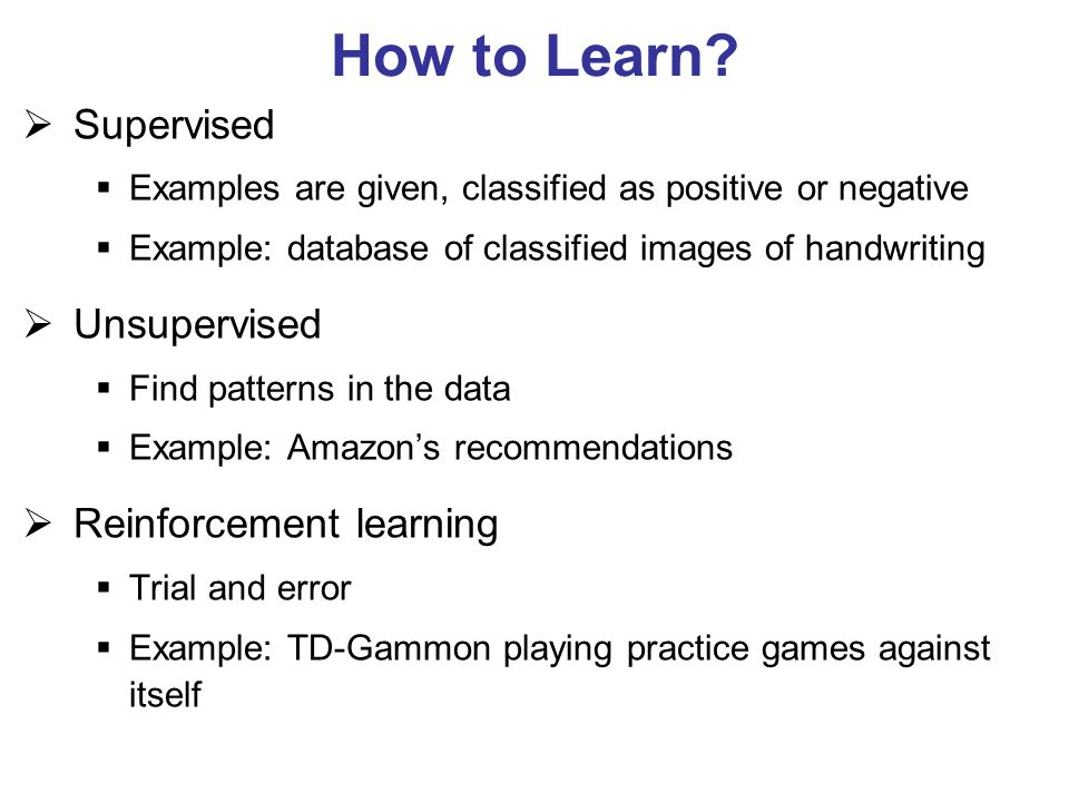 How to Learn.