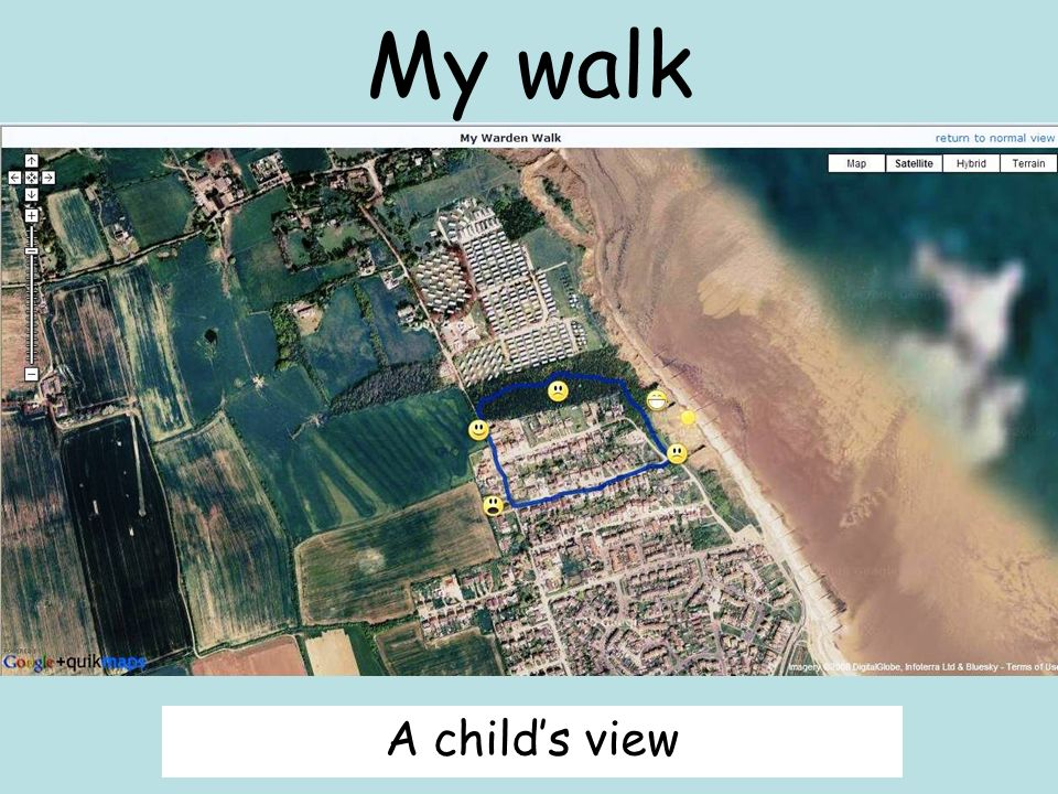 My walk A childs view