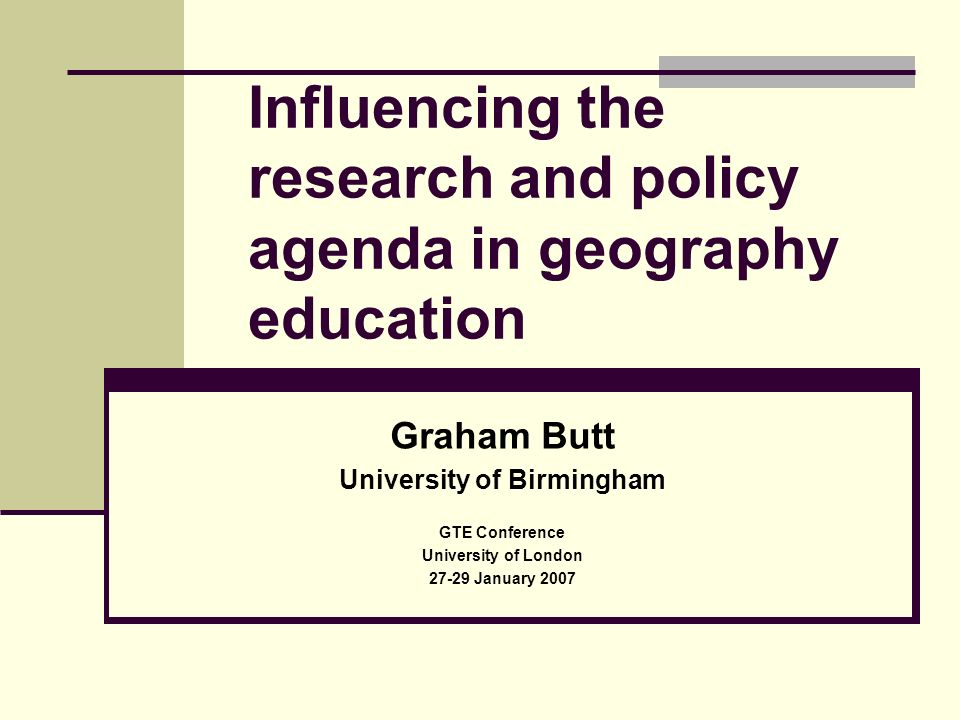A starting point….Criticisms of quality and relevance of UK educational research since late 1990s.