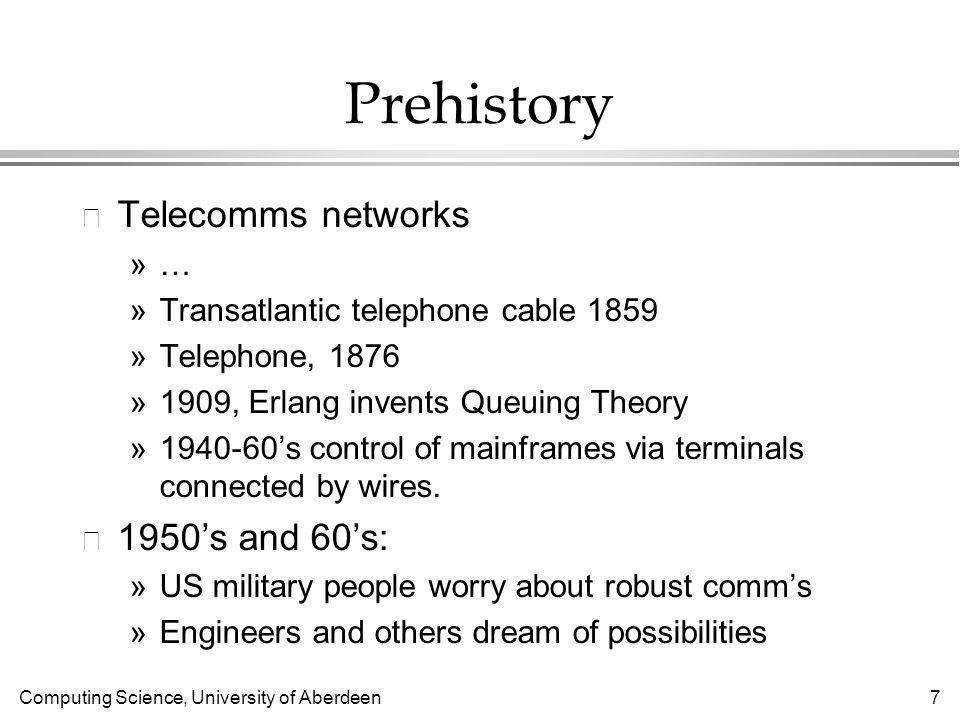 Computing Science, University of Aberdeen 48 UN Internet Agency.