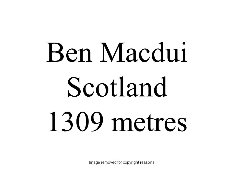 Ben Macdui Scotland 1309 metres Image removed for copyright reasons