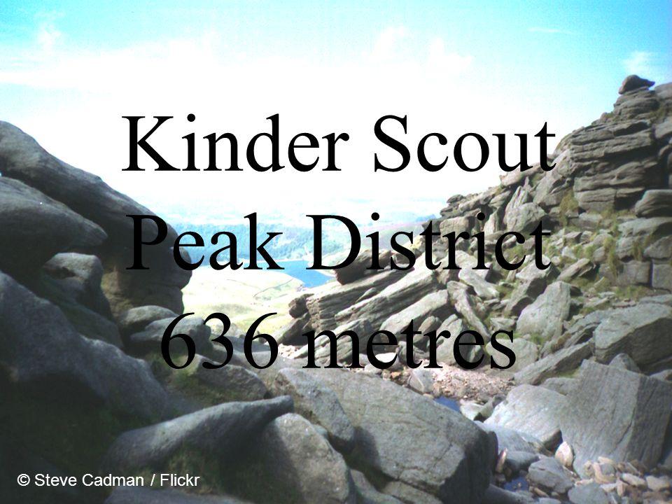Kinder Scout Peak District 636 metres © Steve Cadman / Flickr