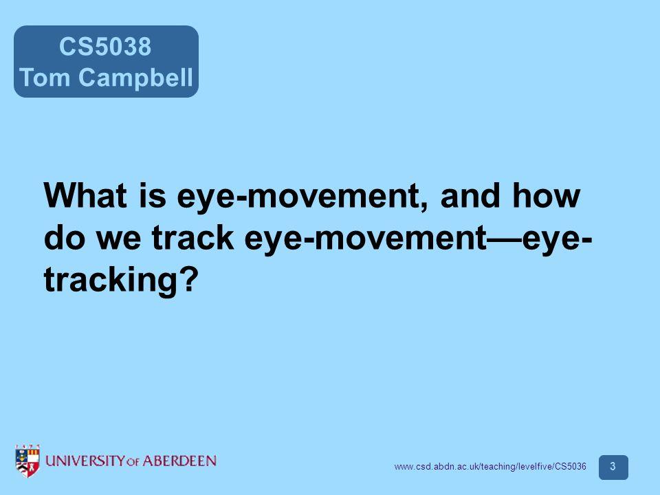 CS5038 Tom Campbell www.csd.abdn.ac.uk/teaching/levelfive/CS5036 24 Absolute drift