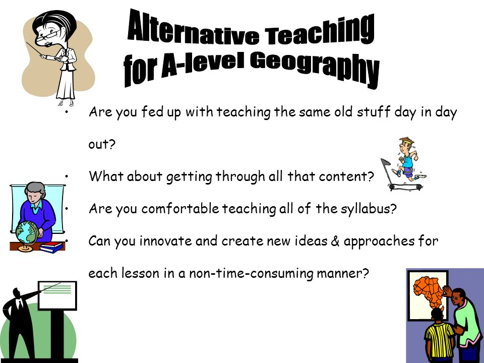 Are you fed up with teaching the same old stuff day in day out? What about getting through all that content? Are you comfortable teaching all of the s