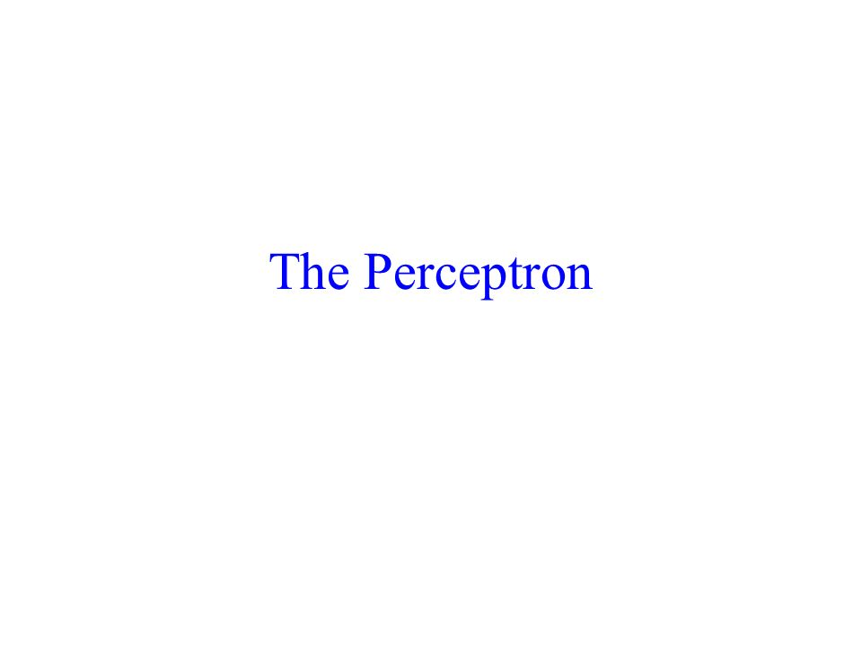 The Perceptron