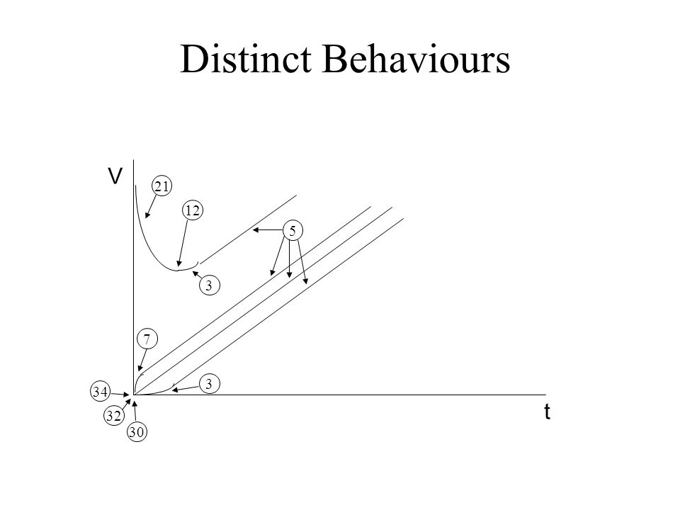 Distinct Behaviours t V