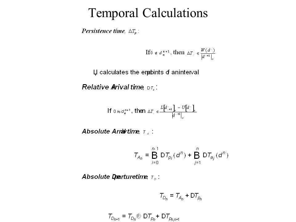 Temporal Calculations