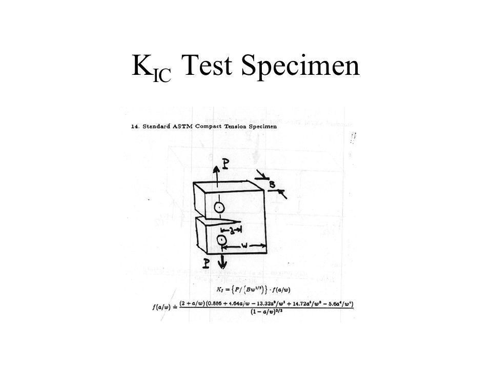 K IC Test Specimen