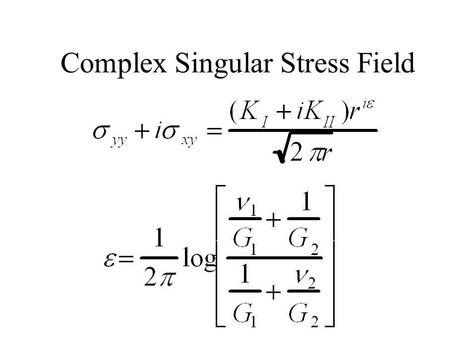 Complex Singular Stress Field