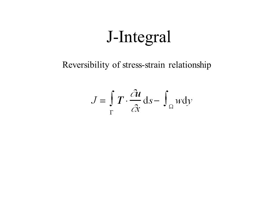 J-Integral Reversibility of stress-strain relationship