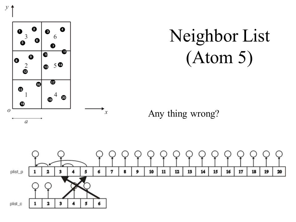 Neighbor List (Atom 5) Any thing wrong