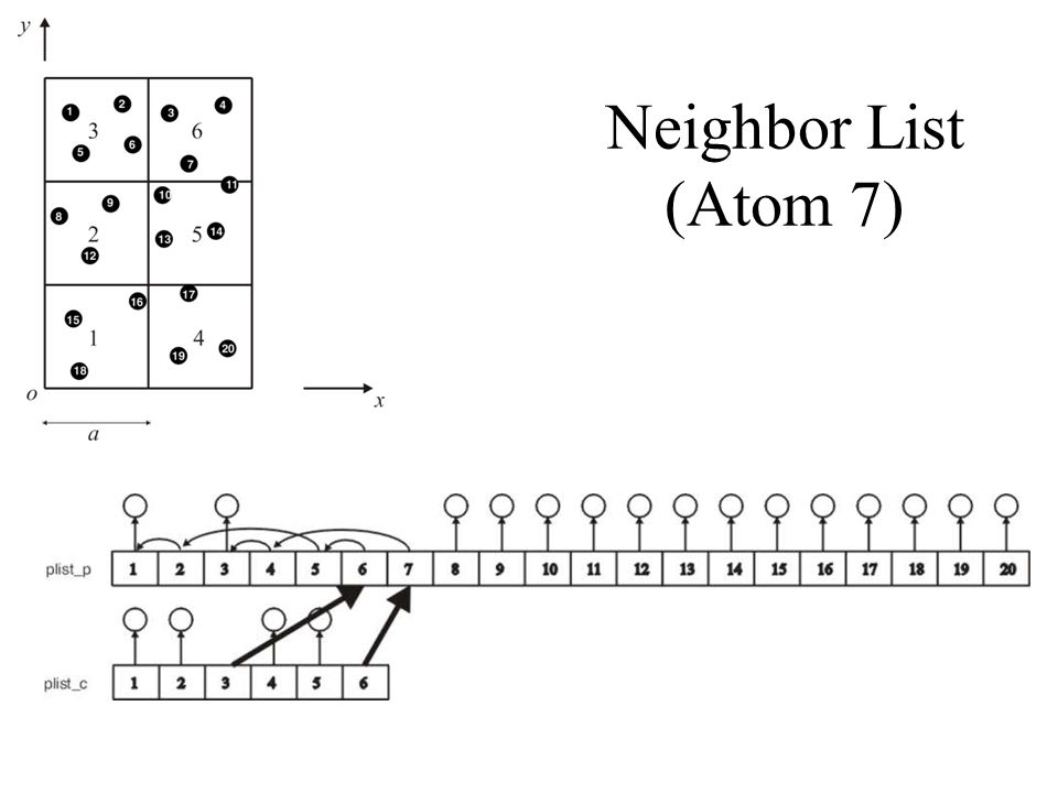 Neighbor List (Atom 7)