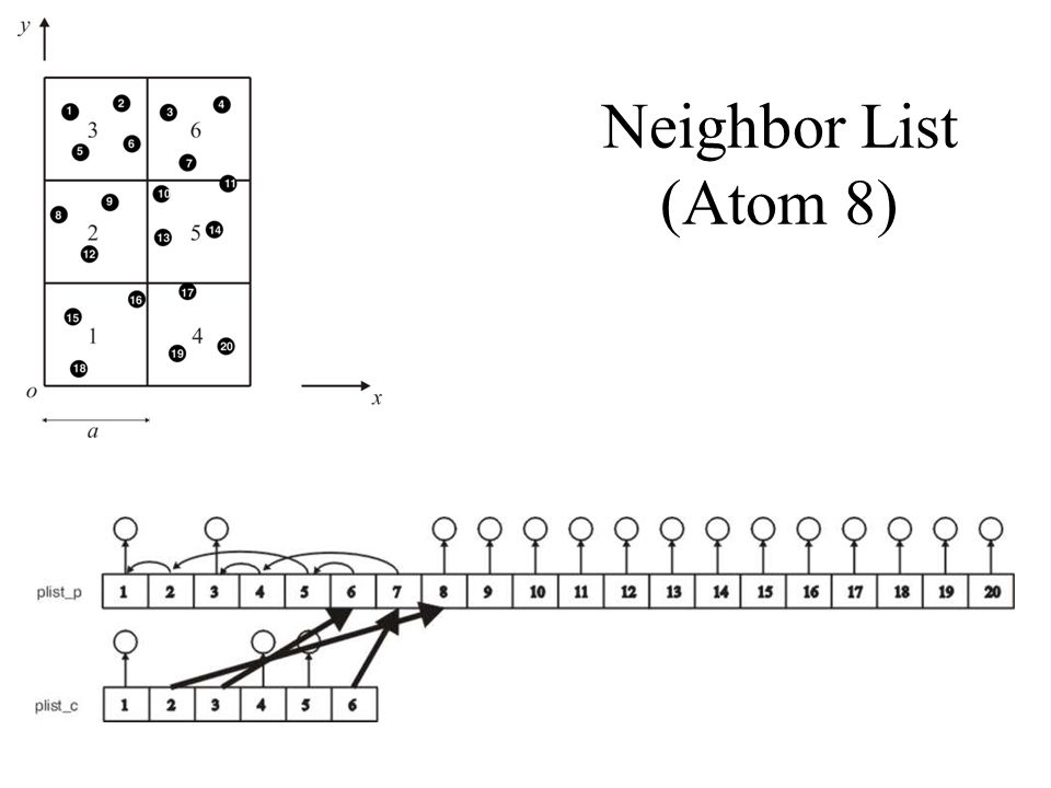 Neighbor List (Atom 8)