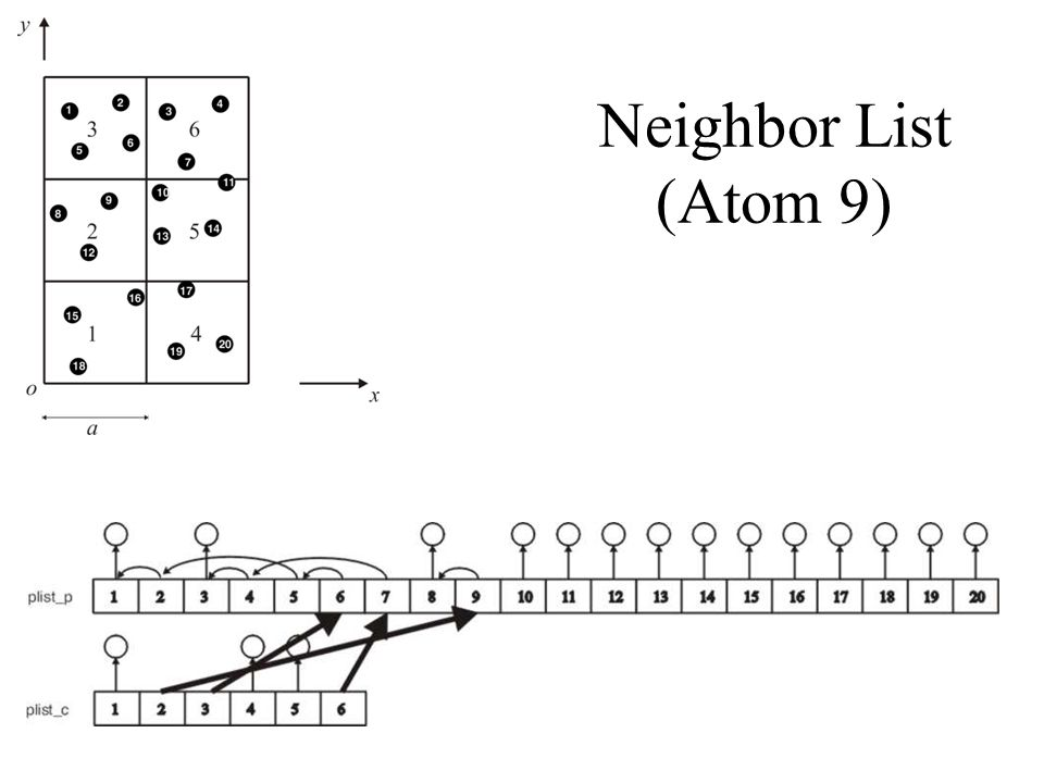 Neighbor List (Atom 9)
