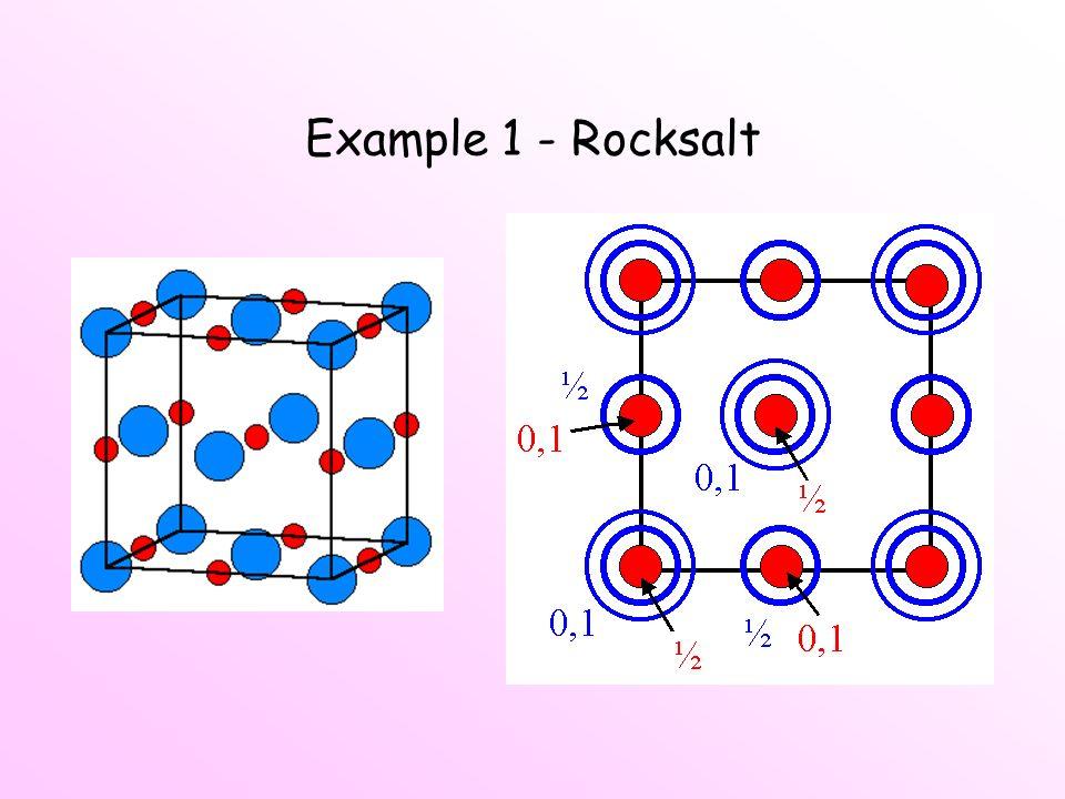 Example 1 - Rocksalt