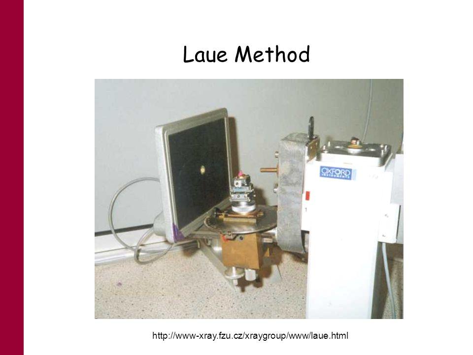 Laue Method http://www-xray.fzu.cz/xraygroup/www/laue.html