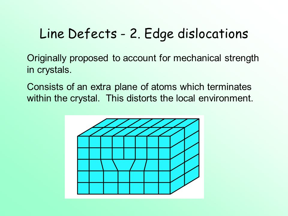 Line Defects - 2.
