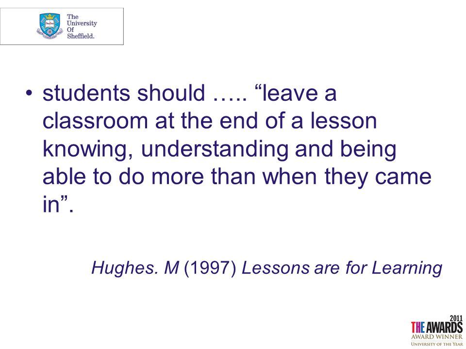 students should …..