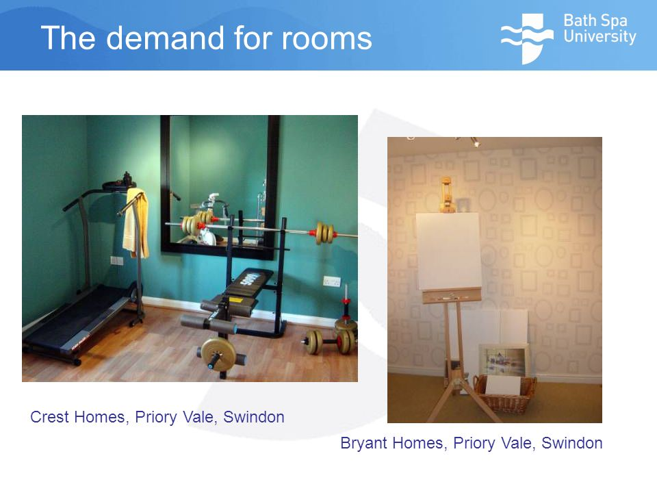 The demand for rooms Crest Homes, Priory Vale, Swindon Bryant Homes, Priory Vale, Swindon