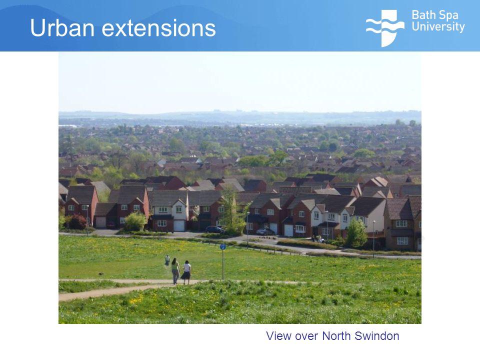 Urban extensions View over North Swindon