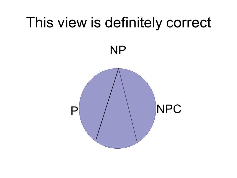 This view is definitely correct P NPC