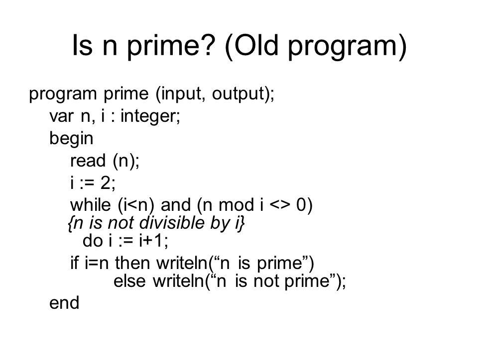 Is n prime.