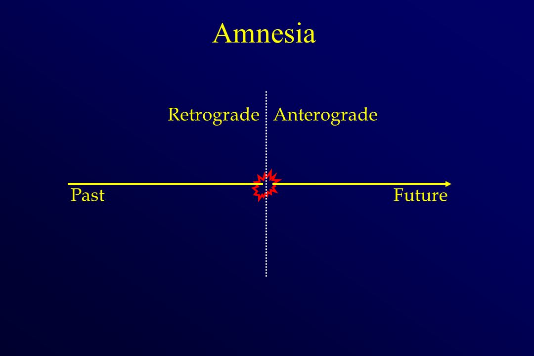 Amnesia PastFuture RetrogradeAnterograde