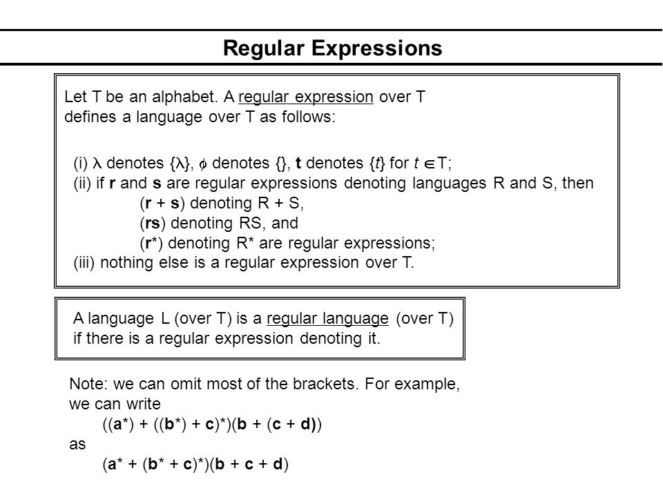 Applications of Regular Expressions 1.