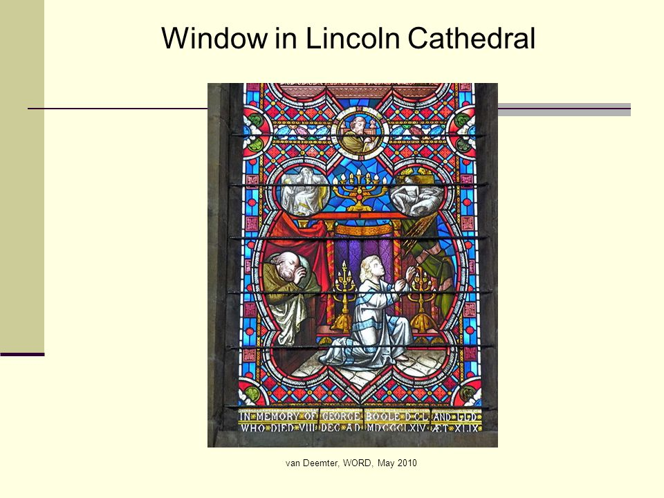 van Deemter, WORD, May 2010 Window in Lincoln Cathedral