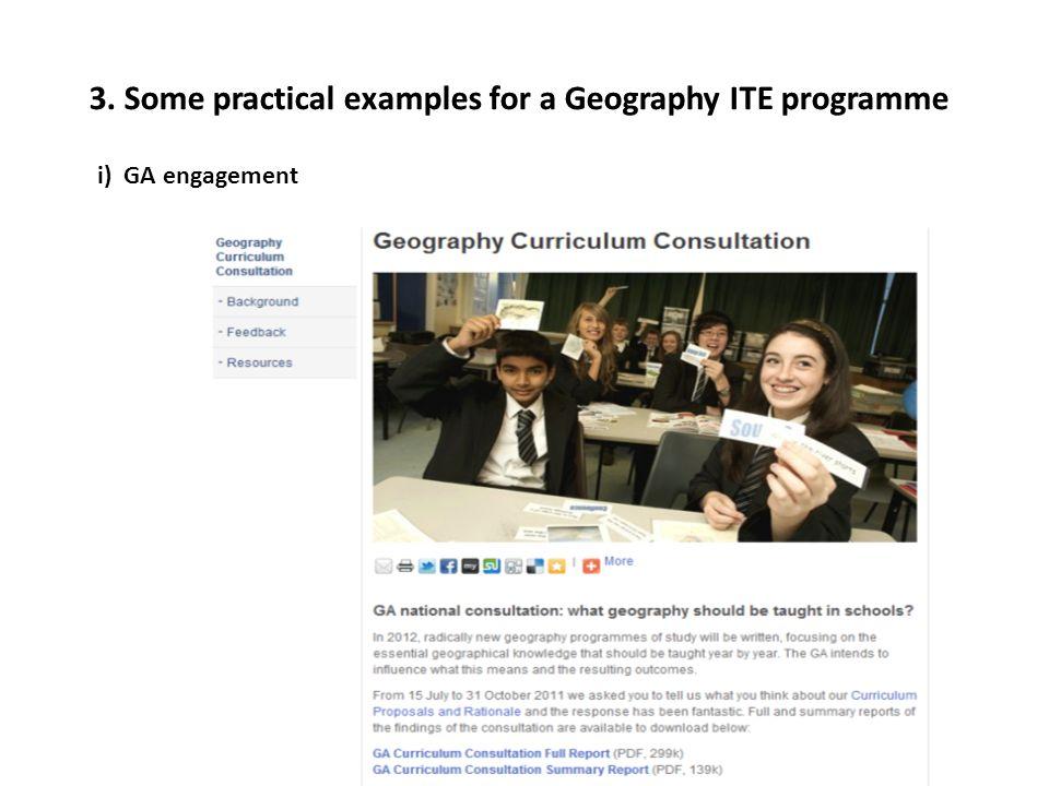 i) GA engagement