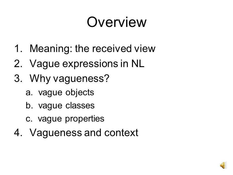 Vagueness: a problem for AI Kees van Deemter University of Aberdeen Scotland, UK